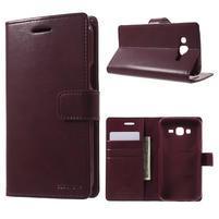 Mercury PU kožené puzdro pre mobil Samsung Galaxy J5 - vinové