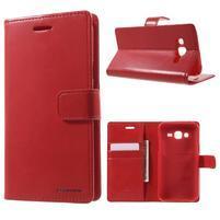 Mercury PU kožené puzdro pre mobil Samsung Galaxy J5 - červené