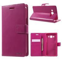 Mercury PU kožené pouzdro na mobil Samsung Galaxy J5 - rose