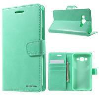 Mercury PU kožené puzdro pre mobil Samsung Galaxy J5 - azúrové