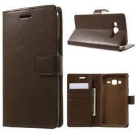 Mercury PU kožené puzdro pre mobil Samsung Galaxy J5 - hnedé