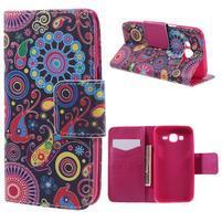 Dairy peňaženkové puzdro pre Samsung Galaxy J5 - farebné kruhy