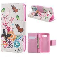 Dairy peňaženkové puzdro pre Samsung Galaxy J5 - motýle
