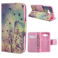 Dairy peňaženkové puzdro pre Samsung Galaxy J5 - vtáčiky