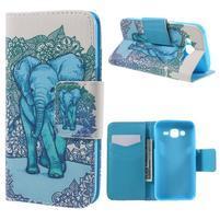 Dairy peňaženkové puzdro pre Samsung Galaxy J5 - modrý slon