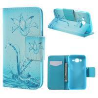 Dairy peňaženkové puzdro pre Samsung Galaxy J5 - vodní kvet
