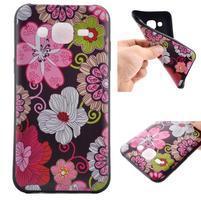Jelly gélový obal pre mobil Samsung Galaxy J5 - koláž kvetin