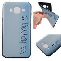 Jelly gélový obal pre mobil Samsung Galaxy J5 - be happy