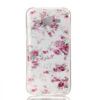 Softy gélový obal pre mobil Samsung Galaxy J5 - kvety