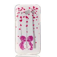 Softy gelový obal na mobil Samsung Galaxy J5 - láska