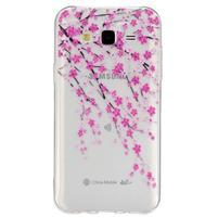 Trans gelový obal na mobil Samsung Galaxy J5 - kvetoucí třešeň