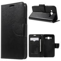 Crossy koženkové puzdro pre Samsung Galaxy J5 - čierne