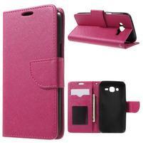 Crossy koženkové puzdro pre Samsung Galaxy J5 - rose