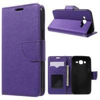Crossy koženkové pouzdro na Samsung Galaxy J5 - fialové
