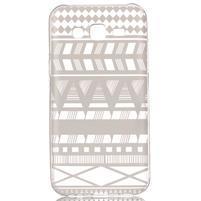 Ultratenký priehľadný obal pre Samsung Galaxy J5 - geo tvary
