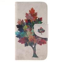 Standy peňaženkové puzdro pre Samsung Galaxy J5 - farebný strom