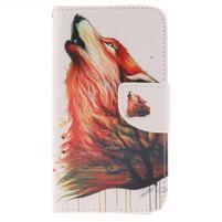 Standy peňaženkové puzdro pre Samsung Galaxy J5 - lesný vlk