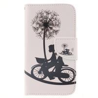 Standy peňaženkové puzdro pre Samsung Galaxy J5 - láska na kole