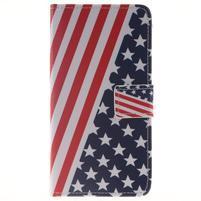 Style peňaženkové puzdro pre Samsung Galaxy J5 (2016) - US vlajka