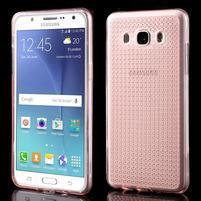 Diamnods gelový obal mobil na Samsung Galaxy J5 (2016) - růžový