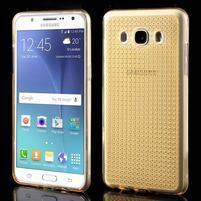 Diamnods gelový obal mobil na Samsung Galaxy J5 (2016) - zlatý