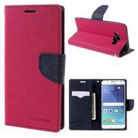 Diary PU kožené puzdro pre mobil Samsung Galaxy J5 (2016) - rose