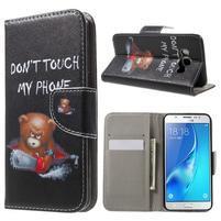 Nice peňaženkové puzdro pro Samsung Galaxy J5 (2016) - zlej méďa