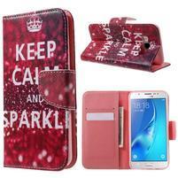 Nice peňaženkové puzdro pro Samsung Galaxy J5 (2016) - Keep Calm