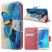 Nice peňaženkové puzdro pro Samsung Galaxy J5 (2016) - motýl