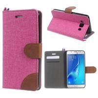 Denim peňaženkové puzdro pre Samsung Galaxy J5 (2016) - rose