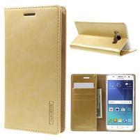 Moons PU kožené puzdro pre Samsung Galaxy J5 (2016) - zlaté