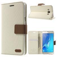 Gentle PU kožené peňaženkové puzdro pre Samsung Galaxy J5 (2016) - biele