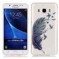 Priehľadný obal pre mobil Samsung Galaxy J5 (2016) - pierko