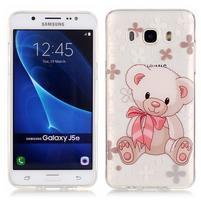 Priehľadný obal pre mobil Samsung Galaxy J5 (2016) - medvídek
