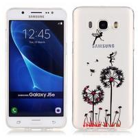 Priehľadný obal pre mobil Samsung Galaxy J5 (2016) - púpavy