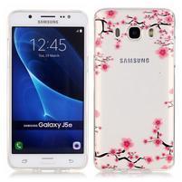 Priehľadný obal pre mobil Samsung Galaxy J5 (2016) - kvitnúca slivka