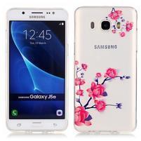 Průhledný obal na mobil Samsung Galaxy J5 (2016) - kvetoucí větvička