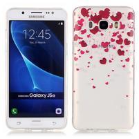 Priehľadný obal pre mobil Samsung Galaxy J5 (2016) - srdčíka