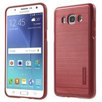 Gelový obal s plastovou výstuhou na Samsung Galaxy J5 (2016) - červený