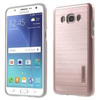 Gélový obal s plastovou výstuhou pre Samsung Galaxy J5 (2016) - ružový
