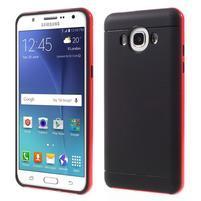 Hybridní obal 2v1 na mobil Samsung Galaxy J5 (2016) - červený
