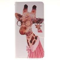 Pictures pouzdro na mobil Samsung Galaxy J5 (2016) - paní žirafa