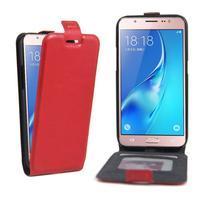Flipové puzdro pre mobil Samsung Galaxy J5 (2016) - červené