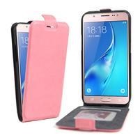 Flipové pouzdro na mobil Samsung Galaxy J5 (2016) - růžové
