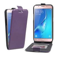 Flipové puzdro pre mobil Samsung Galaxy J5 (2016) - fialové