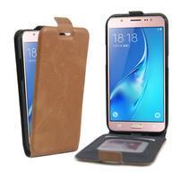 Flipové puzdro pre mobil Samsung Galaxy J5 (2016) - hnedé