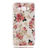 Softy gélový obal pre mobil Samsung Galaxy J5 (2016) - kvety