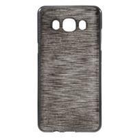 Brushed gélový obal pre mobil Samsung Galaxy J5 (2016) - čierný
