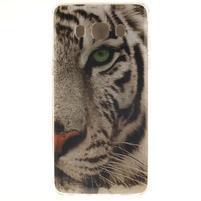 Gelový obal na mobil Samsung Galaxy J5 (2016) - bílý tygr