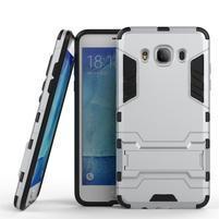Odolný kryt pre mobil Samsung Galaxy J5 (2016) - strieborny
